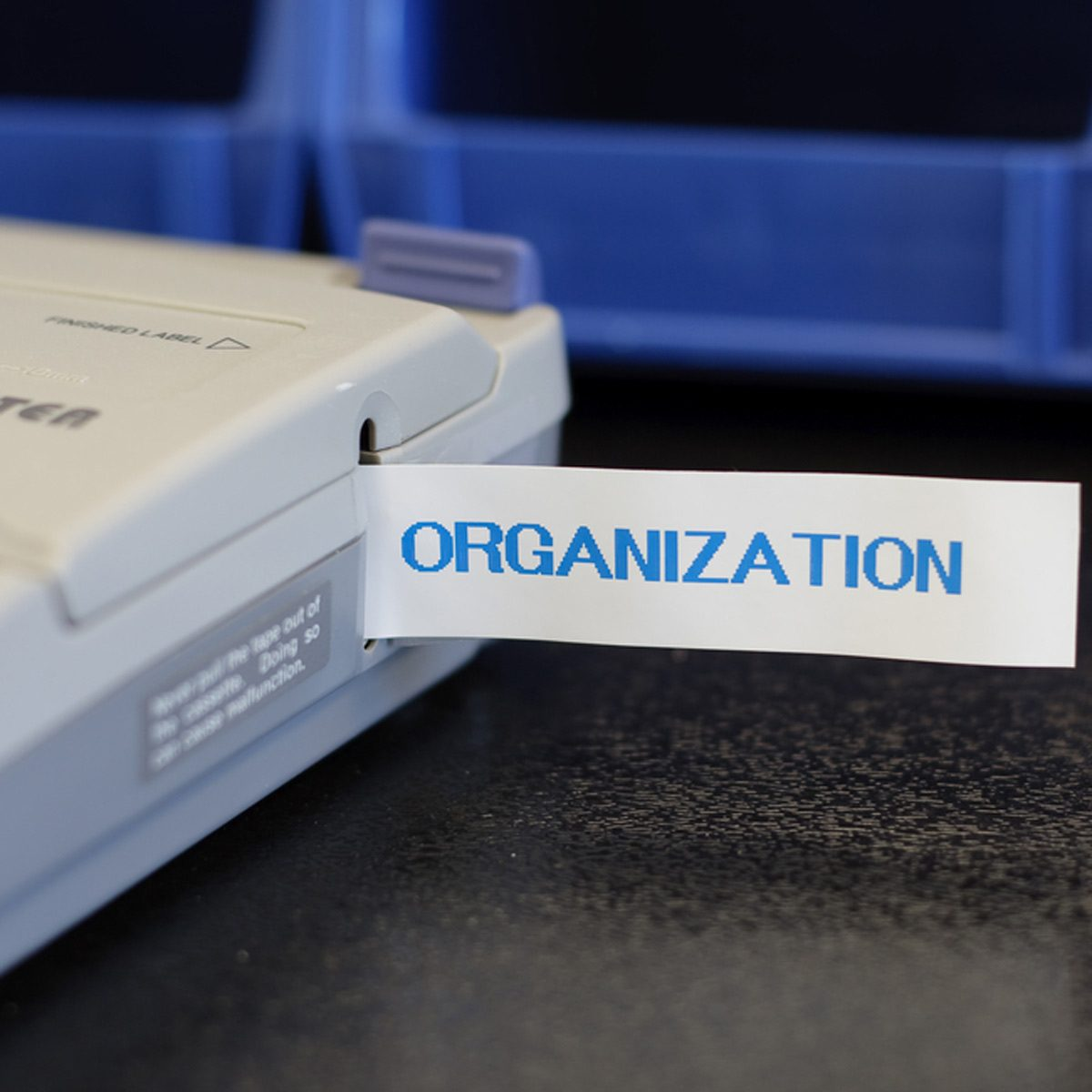 label maker machine organization