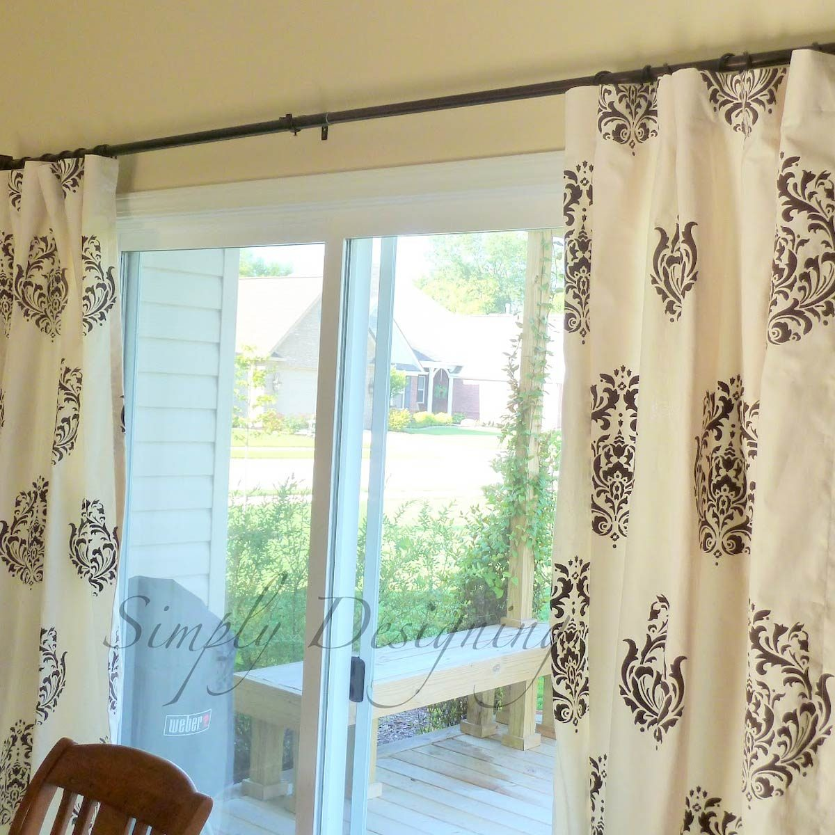 stencil-curtains diy curtain ideas