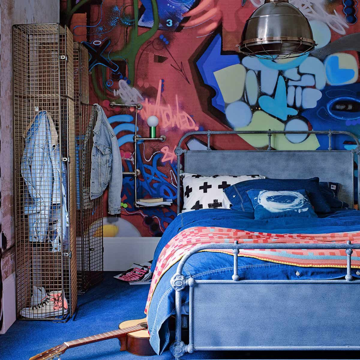 Graffiti Bedroom Art Paint Colors For Bedroom Youth Bedroom Sets Simple Little Boy Bedroom Ideas: 12 Fresh Ideas For Teen Bedrooms