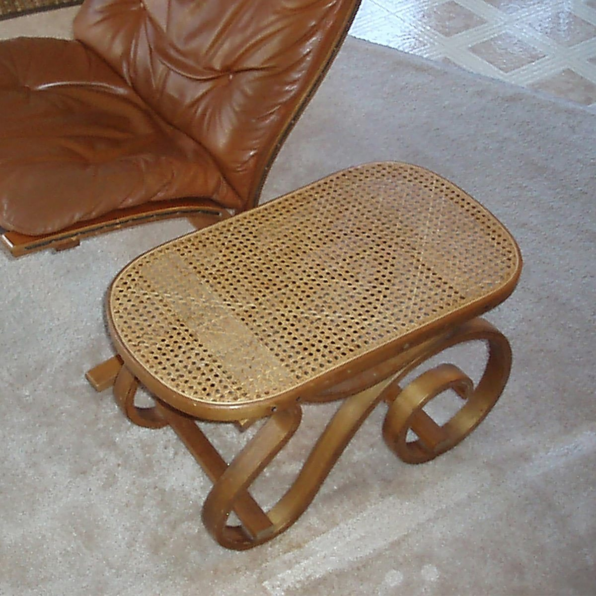 A Neighbor Had Set Out For The Trash Bentwood Rocker With Cane Seat And One Broken