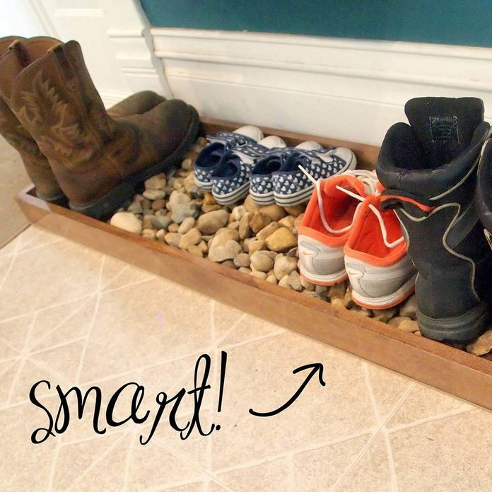 wood boot tray