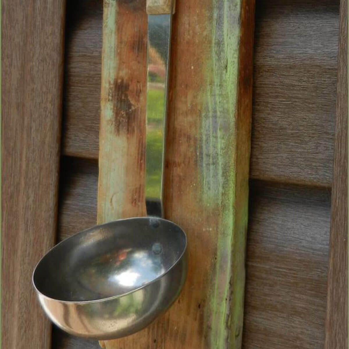 Soup Ladle Bird Feeder