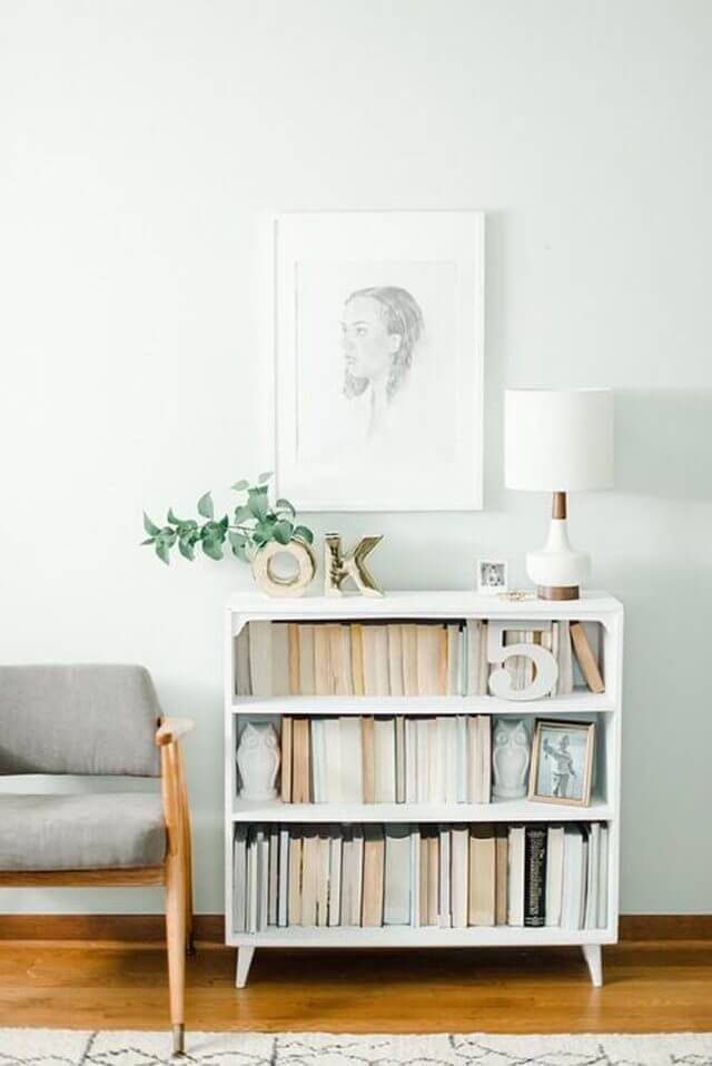 little white bookcase