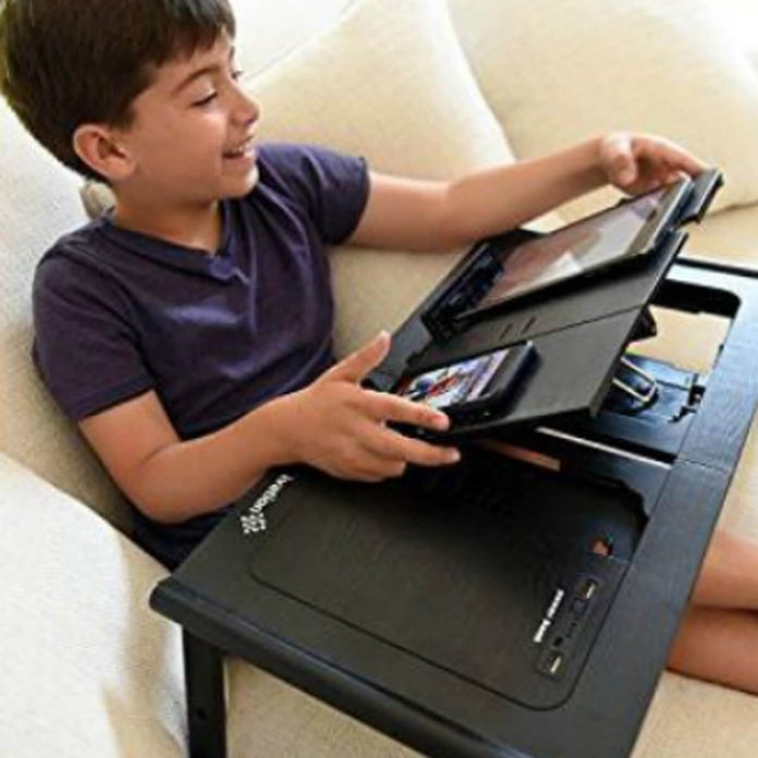 Lap Desk Tablet Stand and Charger Skymall