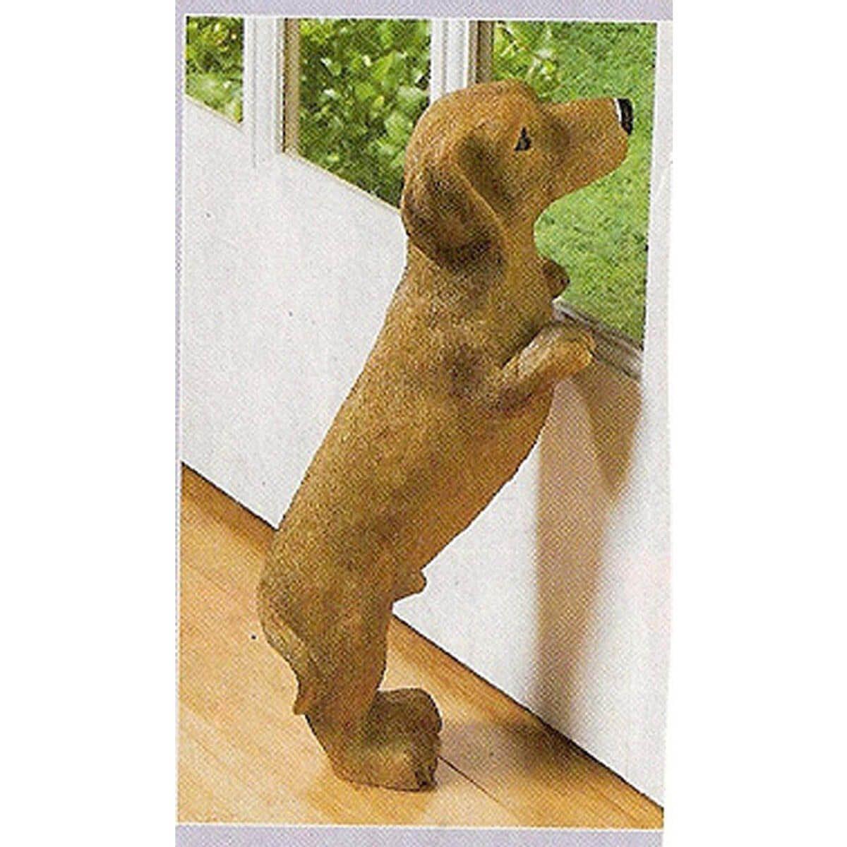 Peeping Puppy Statue Skymall