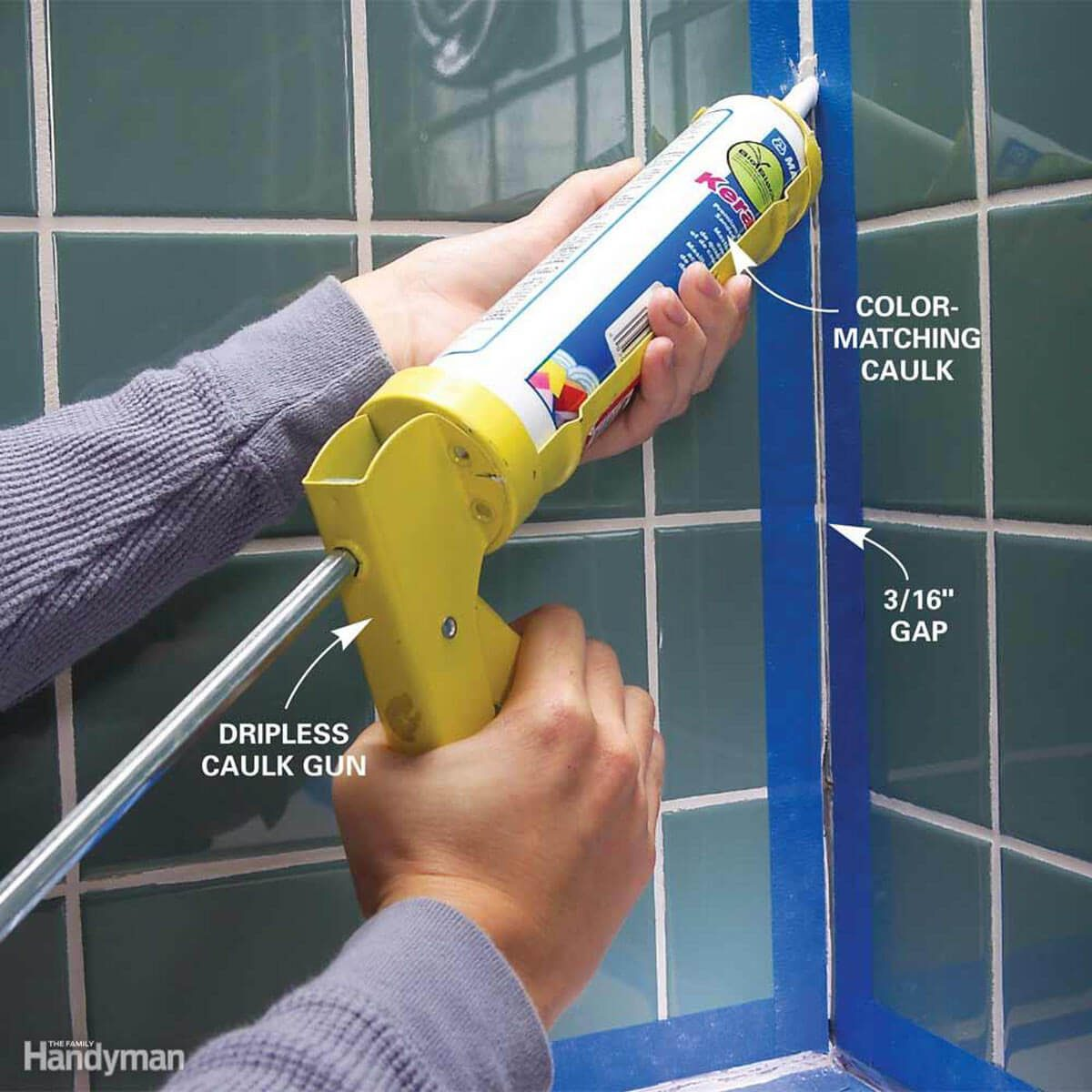 caulk tile