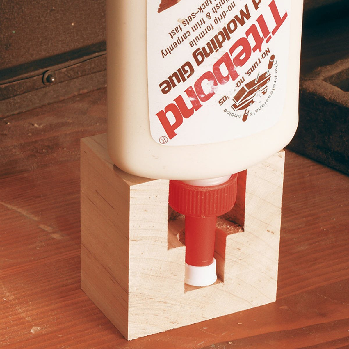 upside down glue bottle brace