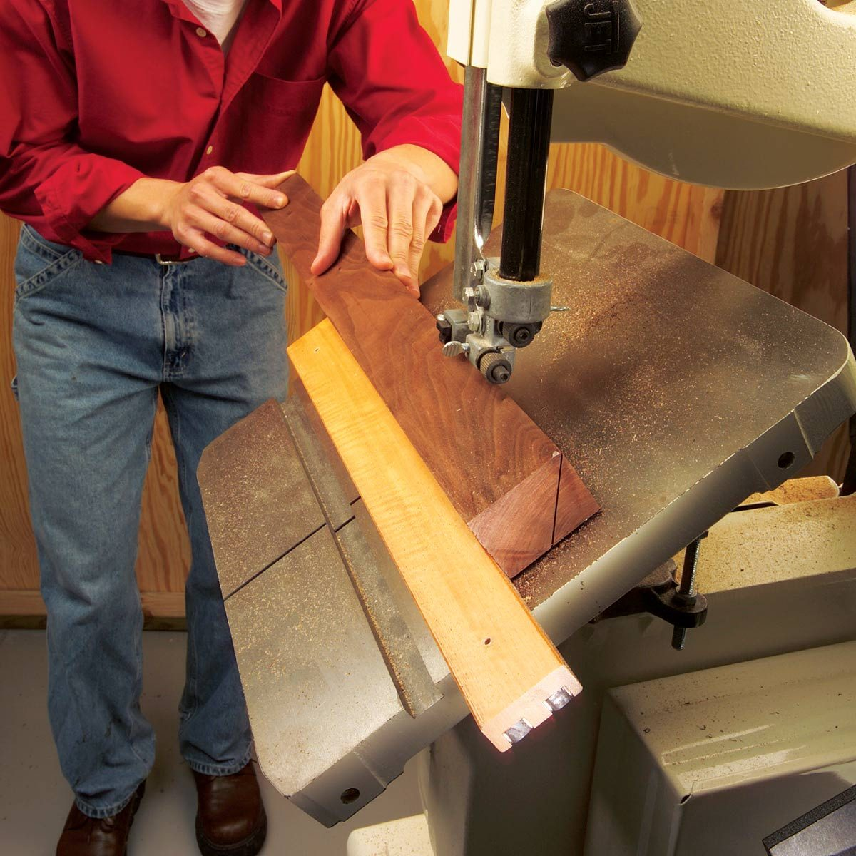 Magnetic Band Saw Fence — The Family