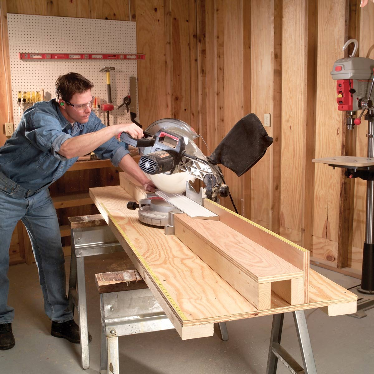 Miter Saw Table Workshop Tip From The Family Handyman