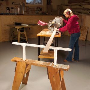 Height-Adjustable Sawhorse