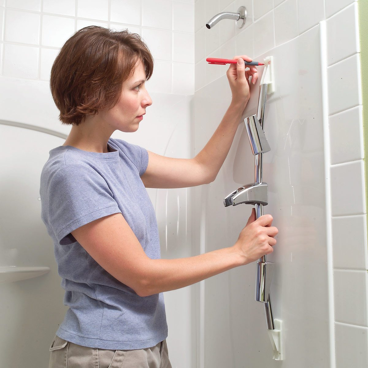 Install Toggle Bolts For An Adjule Shower Head Family Handyman