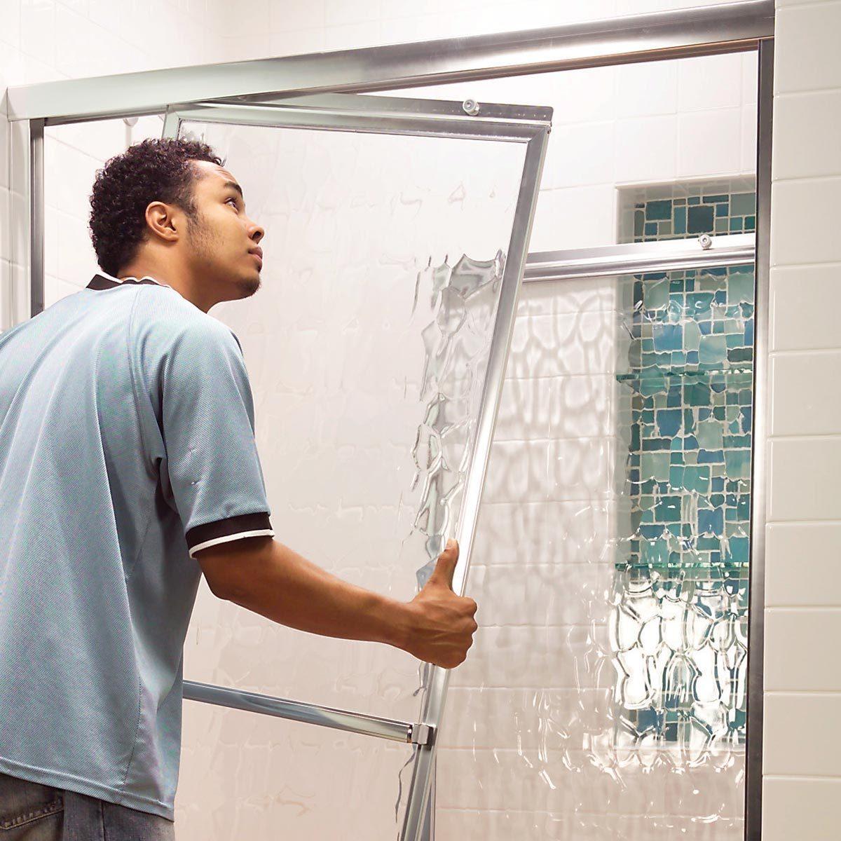 dragging shower door