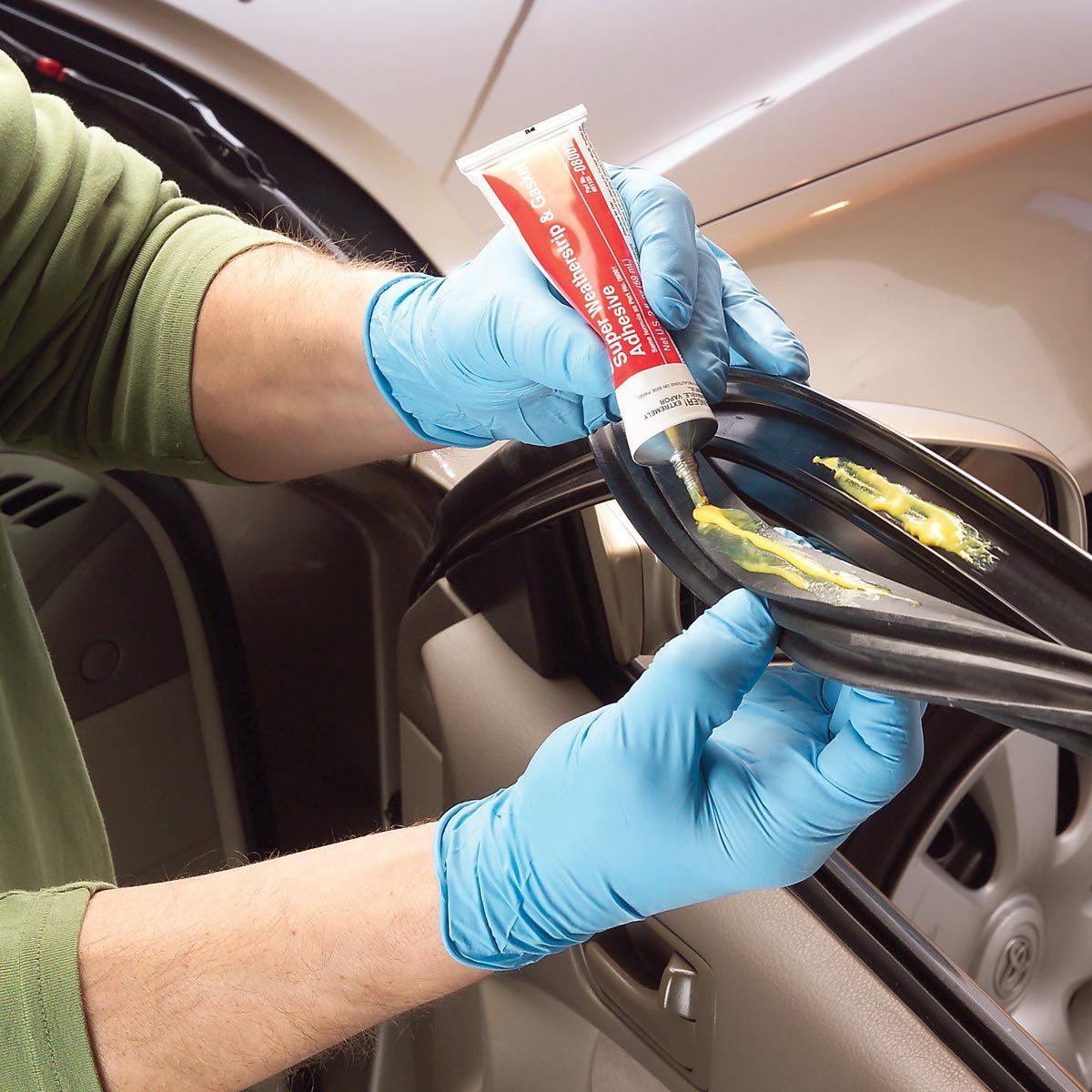 repair car weather stripping