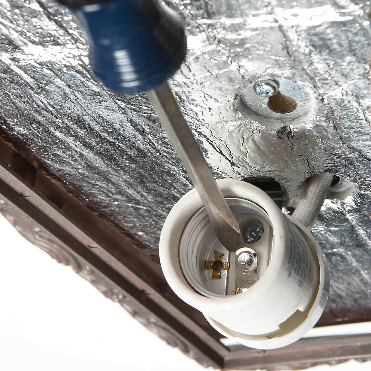 electrical work light bulb socket