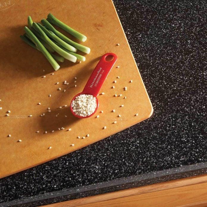kitchen laminate countertops cutting board