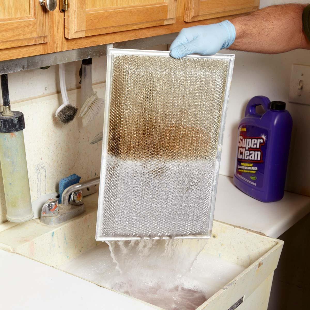 clean oven range vent hood