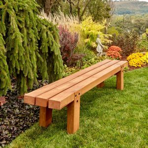 DIY outdoor wooden chair bench