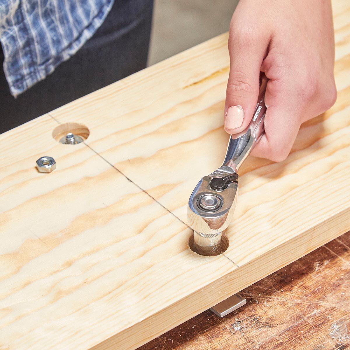 tighten the hanger nuts