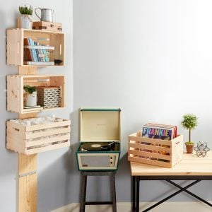 How to Make an Easy Wooden Crate Shelf