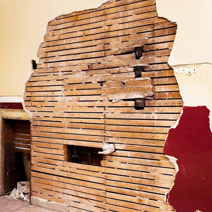 wall demo lath plaster