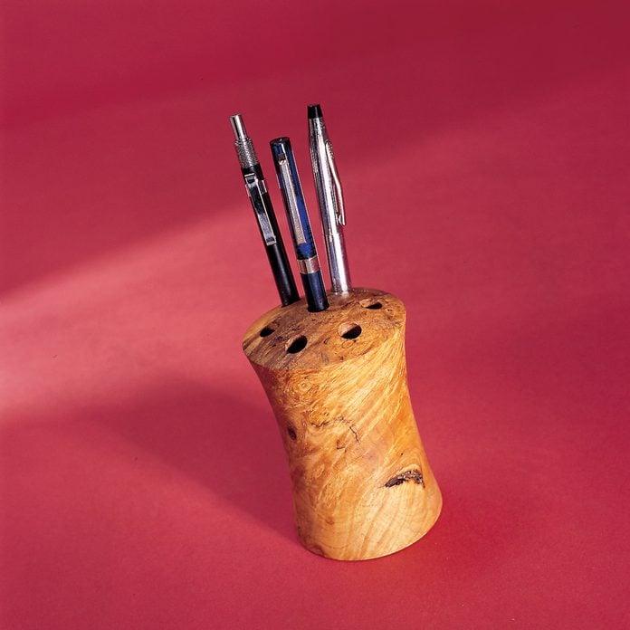 turned-pen-holder