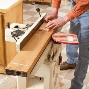 Flattening Rough-Sawn Wood