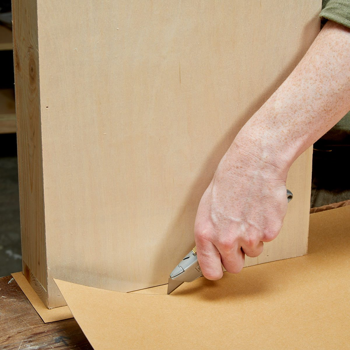 Floating Shelf Secret Drawer Rough Cut