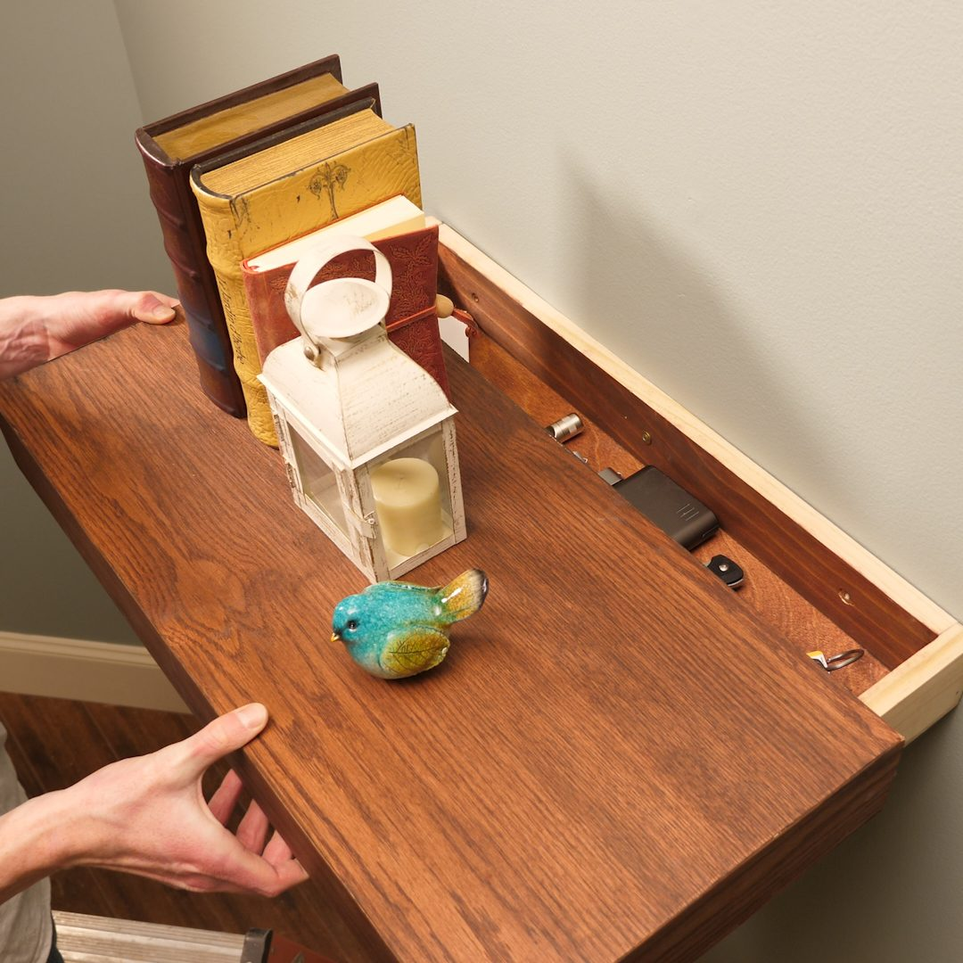 Floating Shelf Secret Drawer Lead