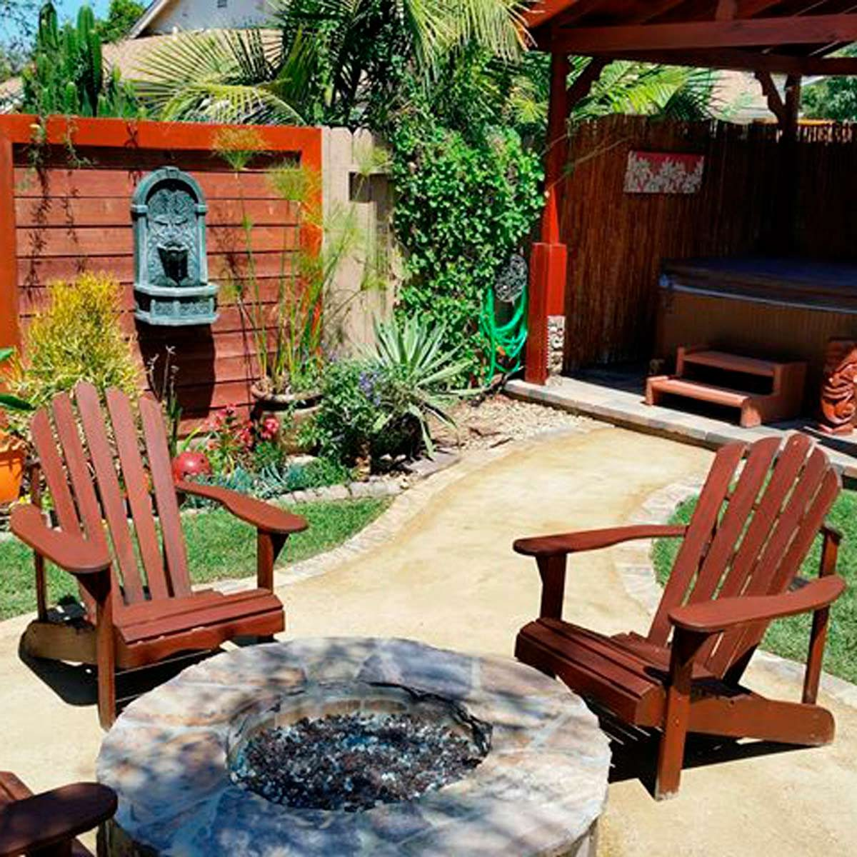 DIY backyard oasis