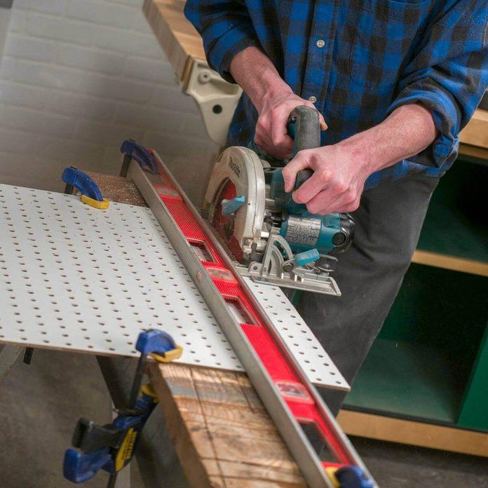Fold Up Workbench Pegboard