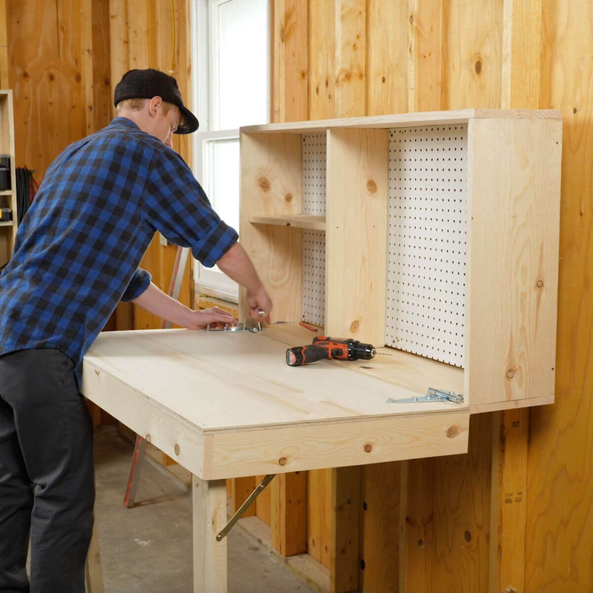 The 10 Best Garage Workbench Builds: Saturday Morning Workshop: How To Build A Fold-Up