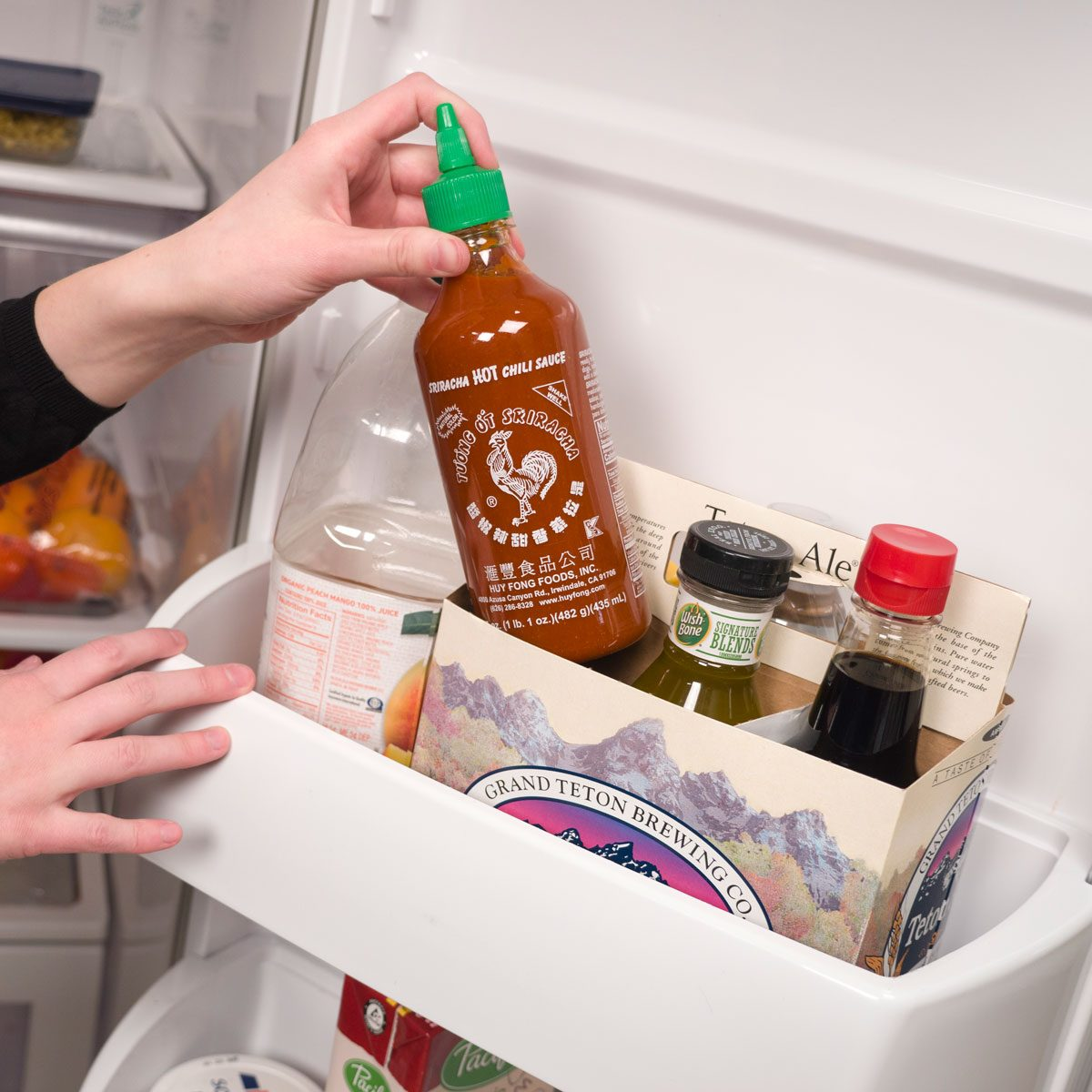 Organize Your Fridge with a Six-Pack
