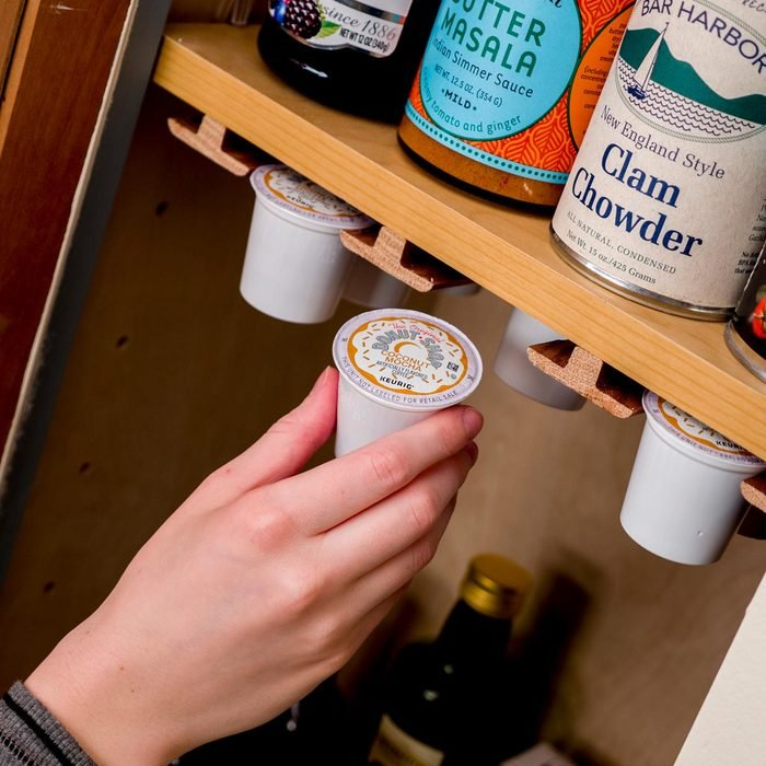 DIY Small Kitchen Coffee Storage and Organization