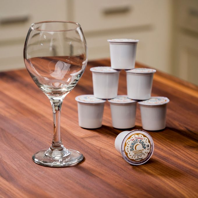 HH Keurig pods wine glass