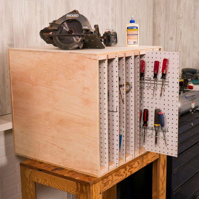 Peg Board Storage Featured