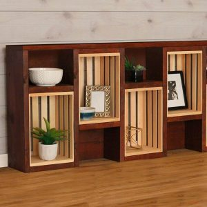 How to Build a Bookcase with Crates