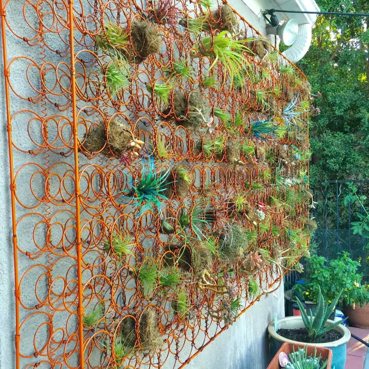 Mattress Spring Flower Wall