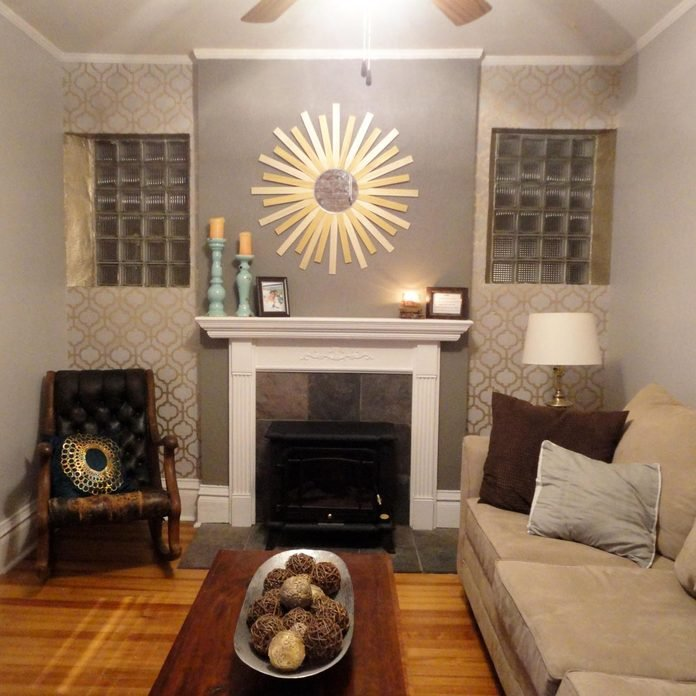 Metallic Paint on Accent Wall