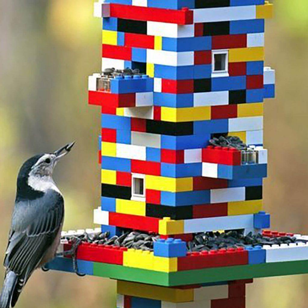 lego bird feeder DIY bird feeder