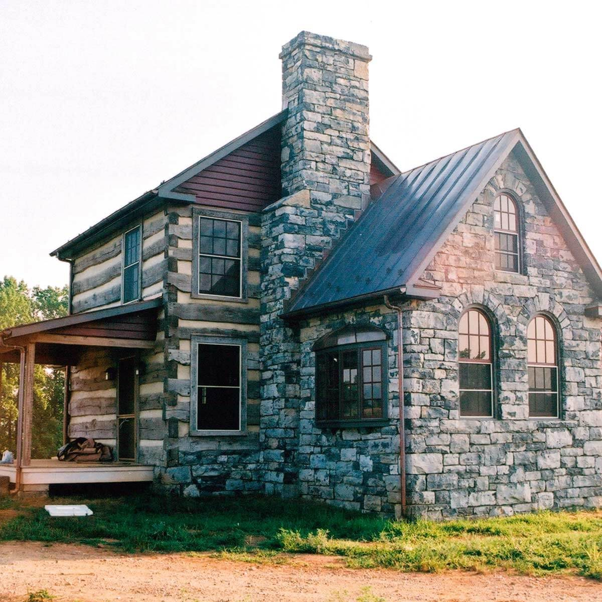 log-and-stone-cabin