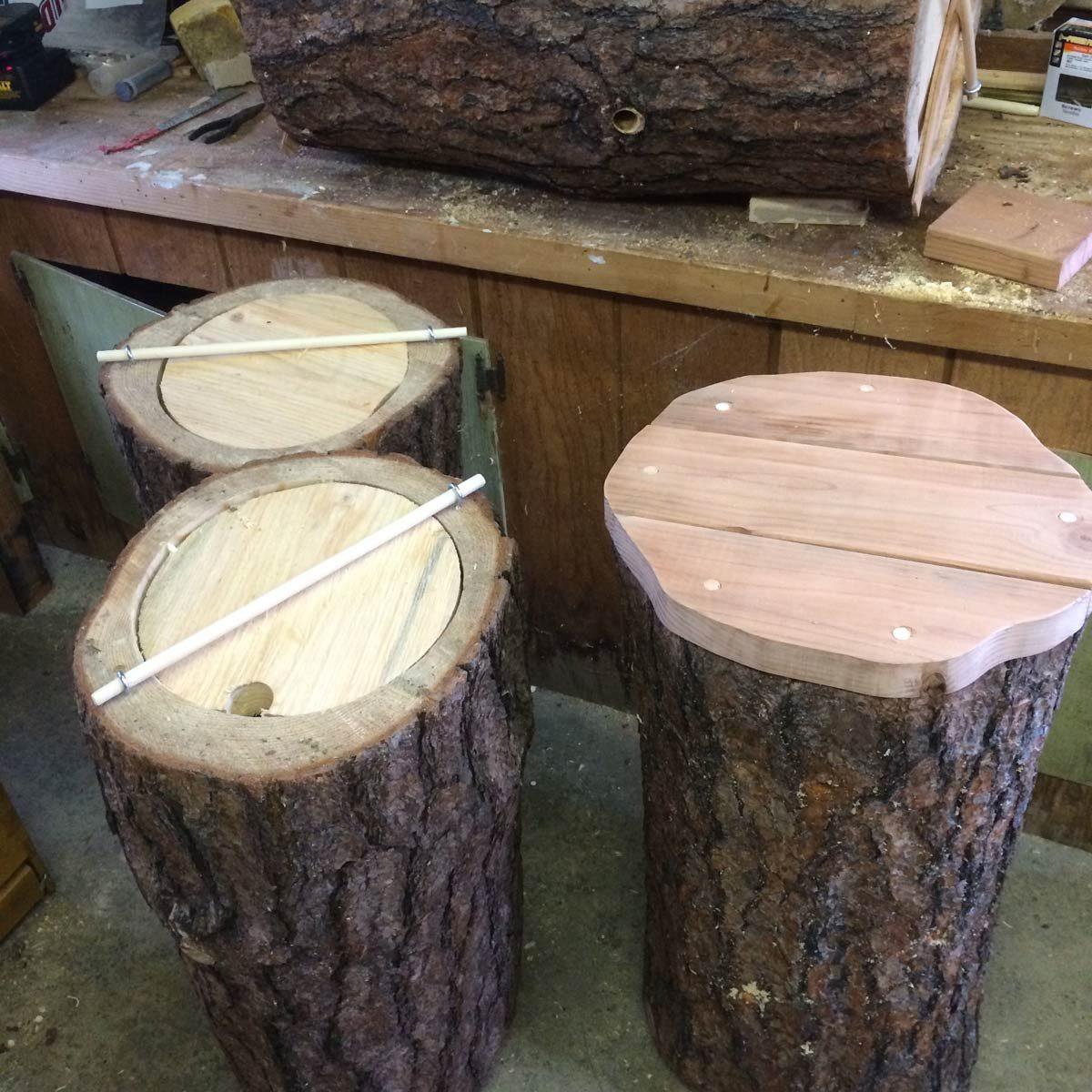 Log Bee Hives