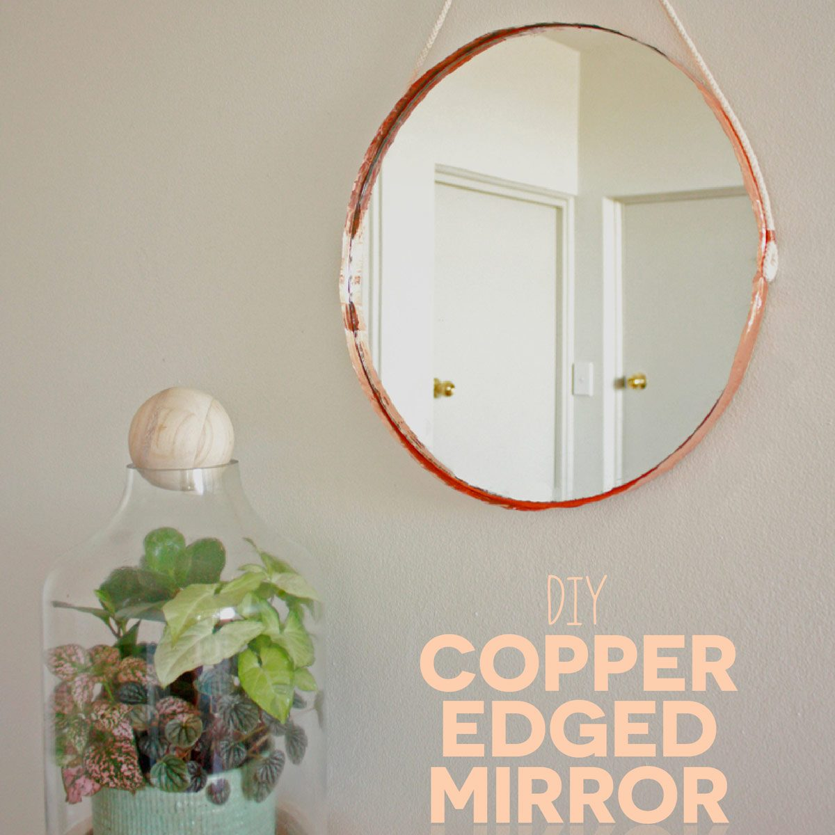 copper mirror frame