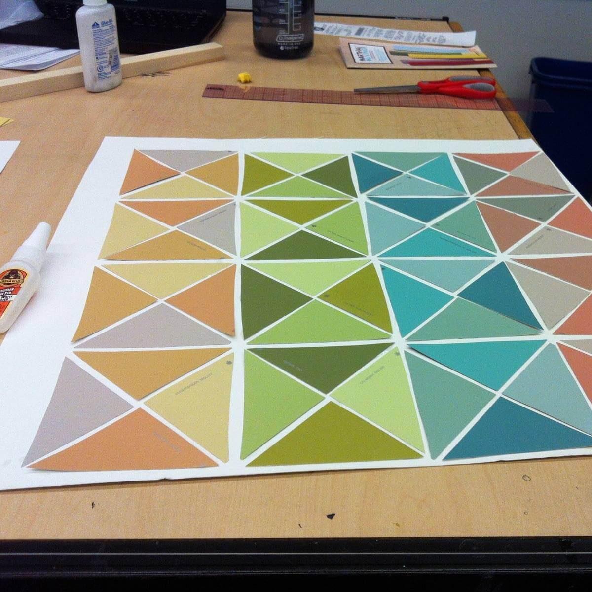 Paint Sample Mosaic Art