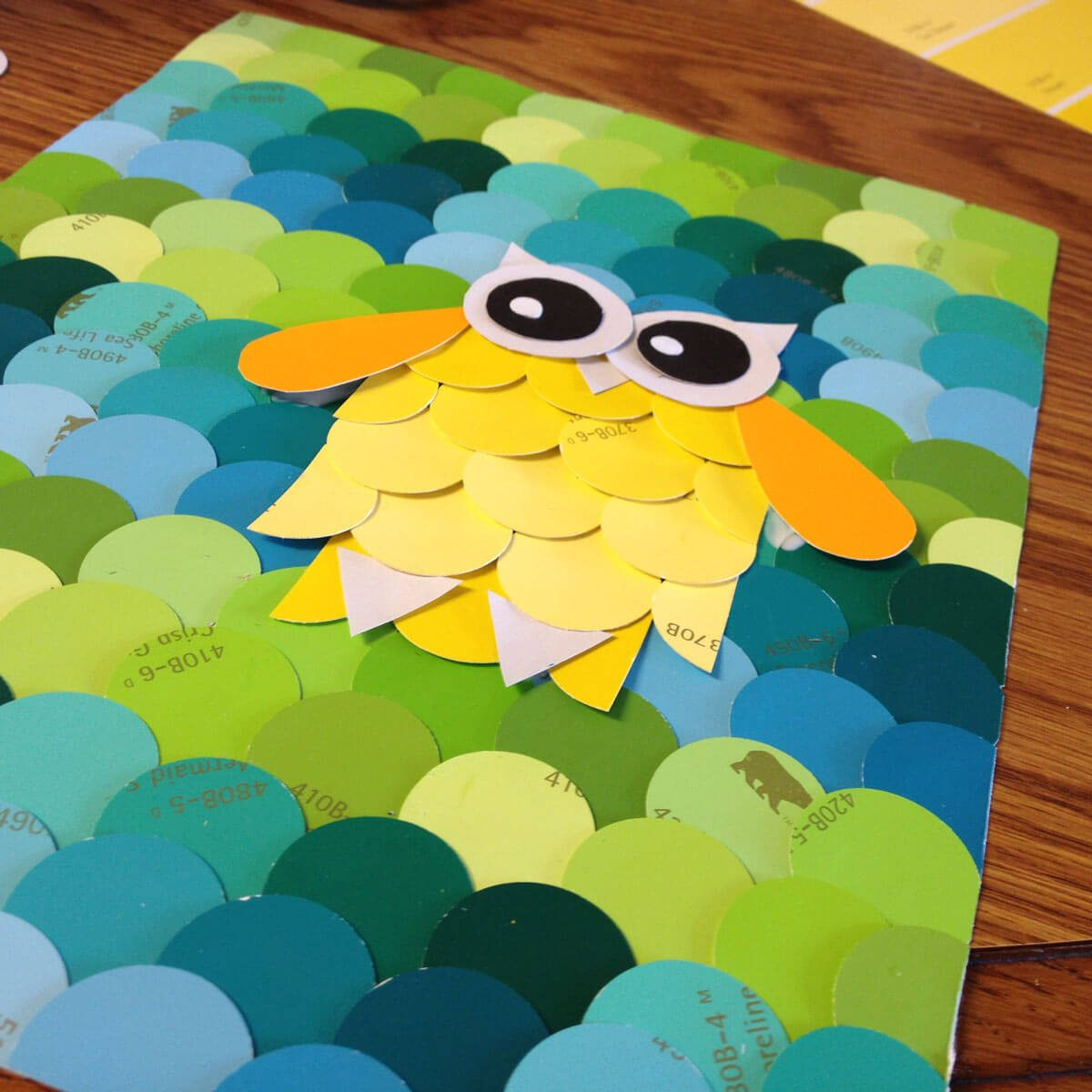 Paint Sample Owl Art