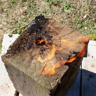 Swedish Torch Log fire pits portable fire pit wood burning fire pit ideas