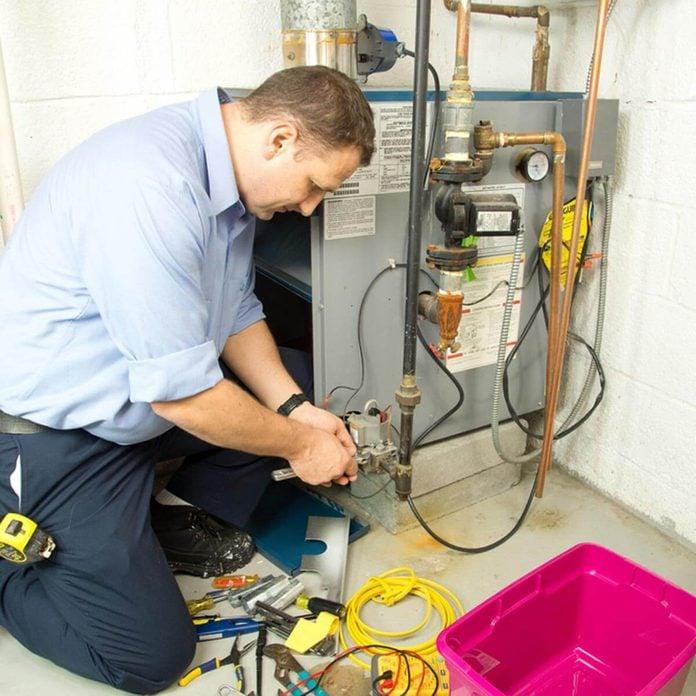 HVAC System repair tech