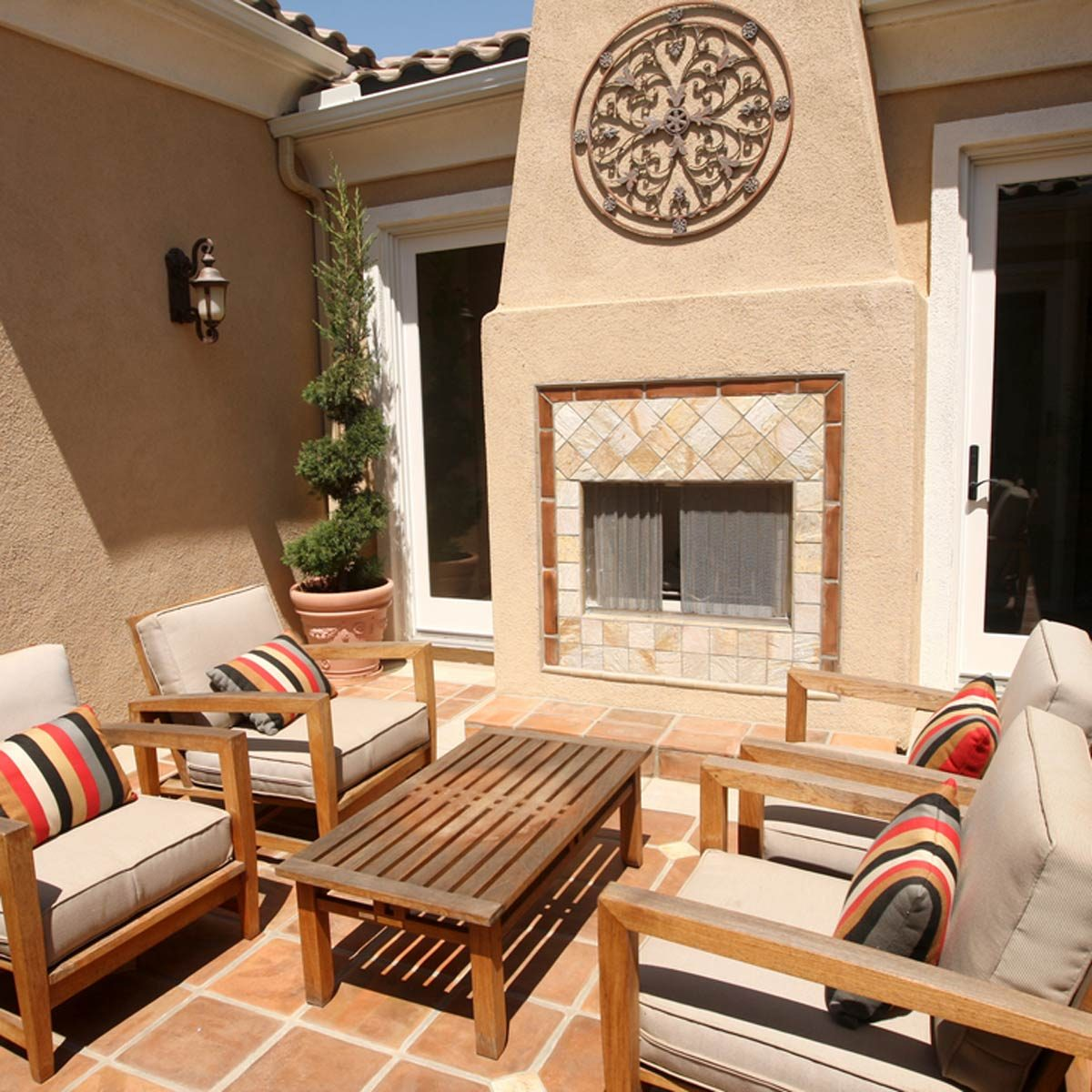 backyard patio stucco