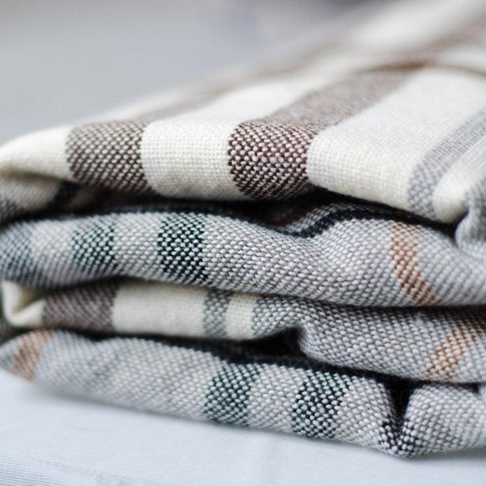 stripped blanket