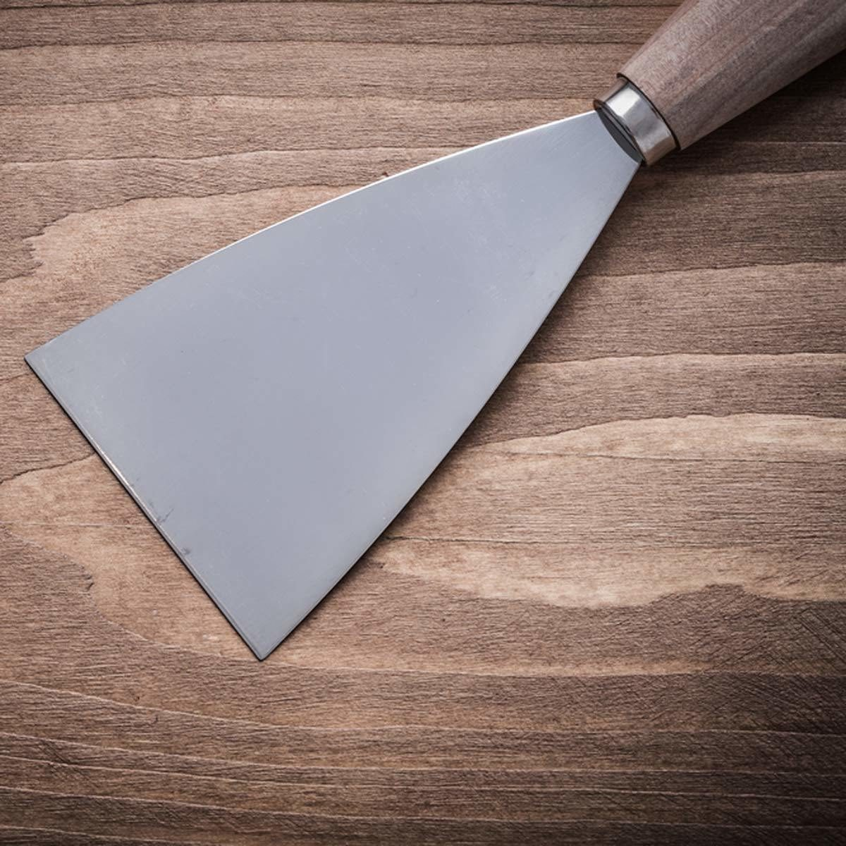 spackle knife or a spatula
