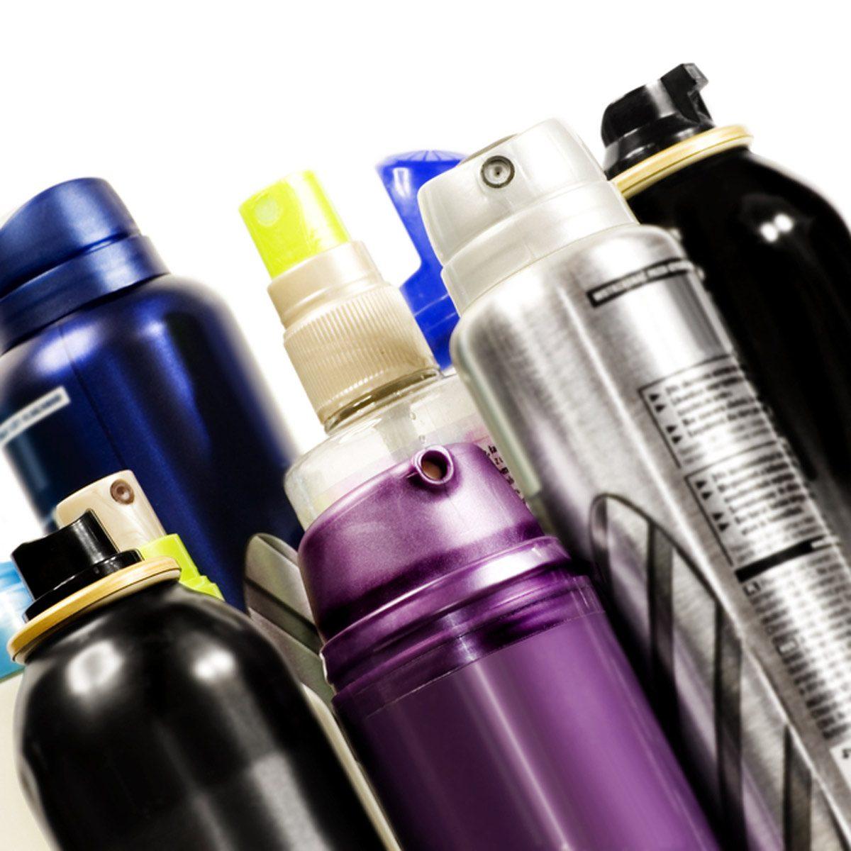 aerosol cans hairspray